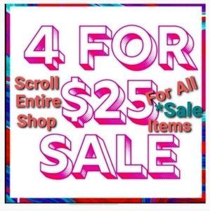 4/$25 Sale